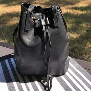 Lucky brand leather bucket shoulder bag/purse
